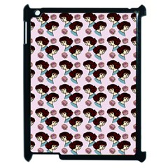 Redhead Girl Pink Apple Ipad 2 Case (black)