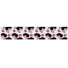 Redhead Girl Pink Large Flano Scarf