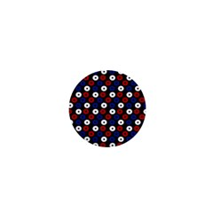 Eye Dots Red Blue 1  Mini Magnets