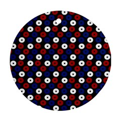 Eye Dots Red Blue Ornament (round)