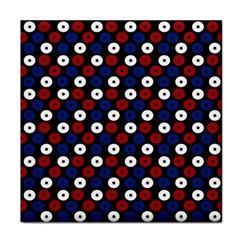 Eye Dots Red Blue Face Towel