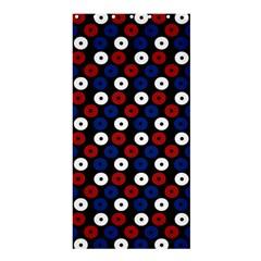 Eye Dots Red Blue Shower Curtain 36  X 72  (stall)  by snowwhitegirl