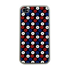 Eye Dots Red Blue Apple Iphone 4 Case (clear) by snowwhitegirl