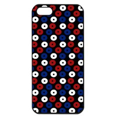Eye Dots Red Blue Apple Iphone 5 Seamless Case (black)