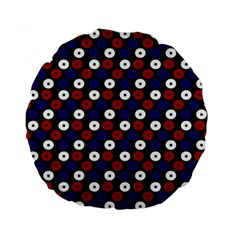 Eye Dots Red Blue Standard 15  Premium Flano Round Cushions