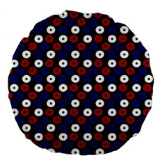 Eye Dots Red Blue Large 18  Premium Flano Round Cushions