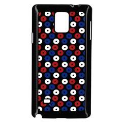 Eye Dots Red Blue Samsung Galaxy Note 4 Case (black)