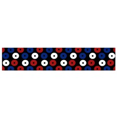 Eye Dots Red Blue Small Flano Scarf