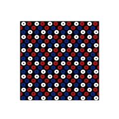 Eye Dots Red Blue Satin Bandana Scarf by snowwhitegirl