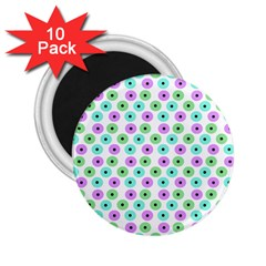 Eye Dots Green Violet 2 25  Magnets (10 Pack)  by snowwhitegirl