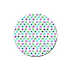 Eye Dots Green Violet Magnet 3  (round)