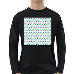 Eye Dots Green Violet Long Sleeve Dark T Shirts