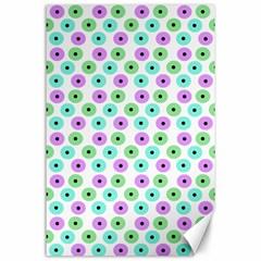 Eye Dots Green Violet Canvas 24  X 36