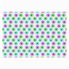 Eye Dots Green Violet Large Glasses Cloth (2 Side)