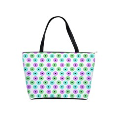 Eye Dots Green Violet Shoulder Handbags