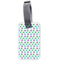 Eye Dots Green Violet Luggage Tags (two Sides)