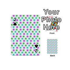 Eye Dots Green Violet Playing Cards 54 (mini)