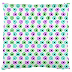 Eye Dots Green Violet Large Cushion Case (one Side)