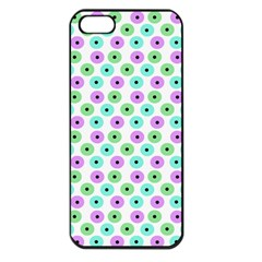 Eye Dots Green Violet Apple Iphone 5 Seamless Case (black)