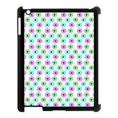 Eye Dots Green Violet Apple Ipad 3/4 Case (black)