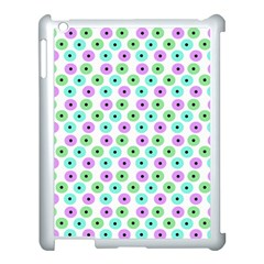 Eye Dots Green Violet Apple Ipad 3/4 Case (white)