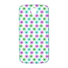 Eye Dots Green Violet Samsung Galaxy S4 I9500/i9505  Hardshell Back Case