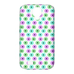 Eye Dots Green Violet Samsung Galaxy S4 Classic Hardshell Case (pc+silicone)
