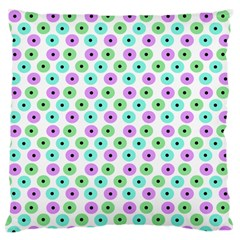 Eye Dots Green Violet Standard Flano Cushion Case (two Sides)