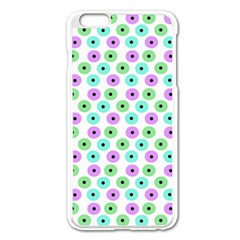 Eye Dots Green Violet Apple Iphone 6 Plus/6s Plus Enamel White Case
