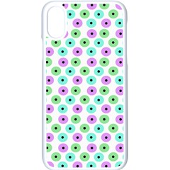 Eye Dots Green Violet Apple Iphone X Seamless Case (white)