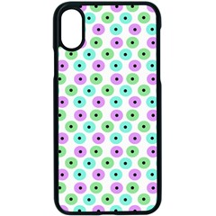 Eye Dots Green Violet Apple Iphone X Seamless Case (black)