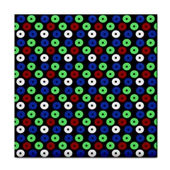 Eye Dots Green Blue Red Tile Coasters