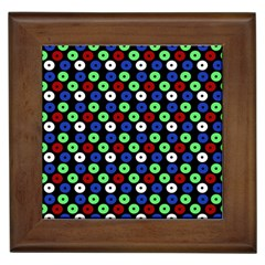 Eye Dots Green Blue Red Framed Tiles