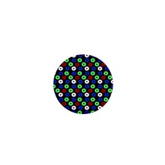 Eye Dots Green Blue Red 1  Mini Magnets