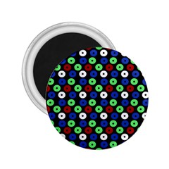 Eye Dots Green Blue Red 2 25  Magnets