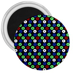 Eye Dots Green Blue Red 3  Magnets