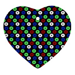 Eye Dots Green Blue Red Ornament (heart)
