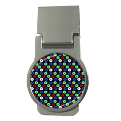 Eye Dots Green Blue Red Money Clips (round)