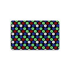 Eye Dots Green Blue Red Magnet (name Card)