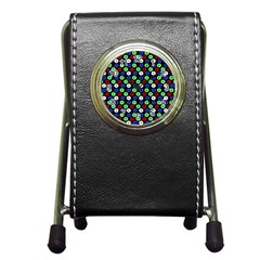 Eye Dots Green Blue Red Pen Holder Desk Clocks