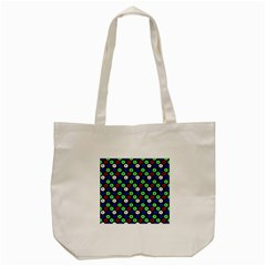 Eye Dots Green Blue Red Tote Bag (cream)