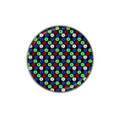 Eye Dots Green Blue Red Hat Clip Ball Marker (10 Pack)