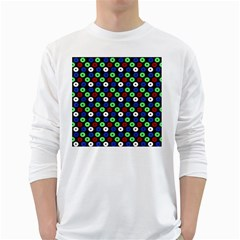 Eye Dots Green Blue Red White Long Sleeve T Shirts