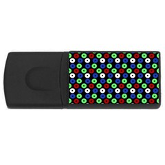 Eye Dots Green Blue Red Rectangular Usb Flash Drive