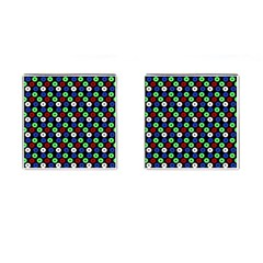 Eye Dots Green Blue Red Cufflinks (square)