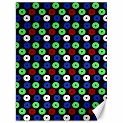 Eye Dots Green Blue Red Canvas 12  X 16