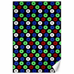 Eye Dots Green Blue Red Canvas 20  X 30