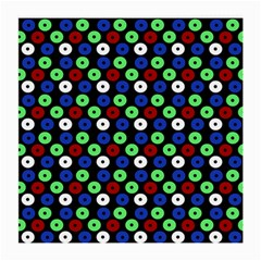 Eye Dots Green Blue Red Medium Glasses Cloth (2 Side)