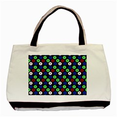 Eye Dots Green Blue Red Basic Tote Bag (two Sides)