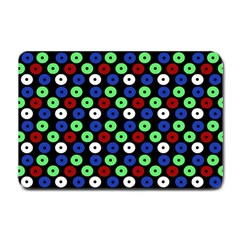 Eye Dots Green Blue Red Small Doormat